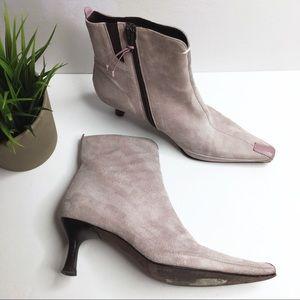 Donald J. Pliner Lindt Suede & Lather Heeled Boots